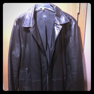 Hugo Boss men's leather jacket